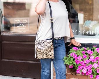 Lovely baby Leopard print cowhide Callie Crossbody bag!