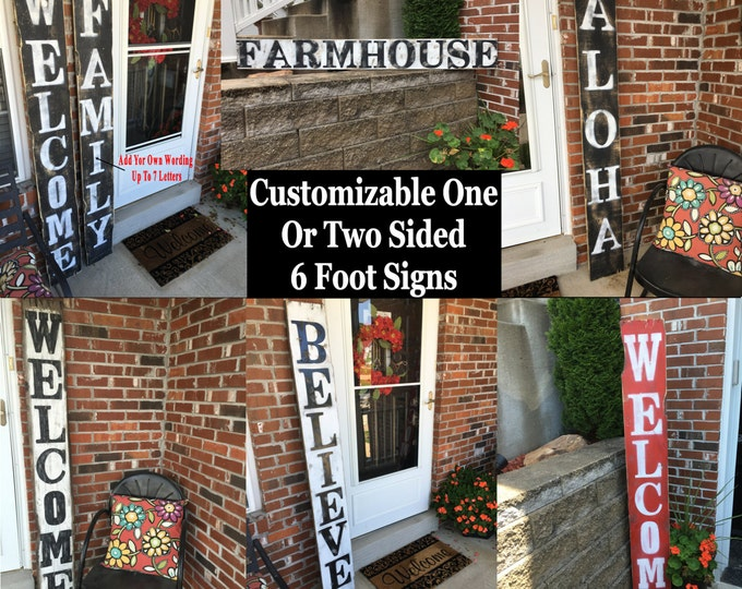 Rustic Welcome Sign, Outdoor Welcome Decor, Welcome Wood Sign, Entryway Welcome  Sign,