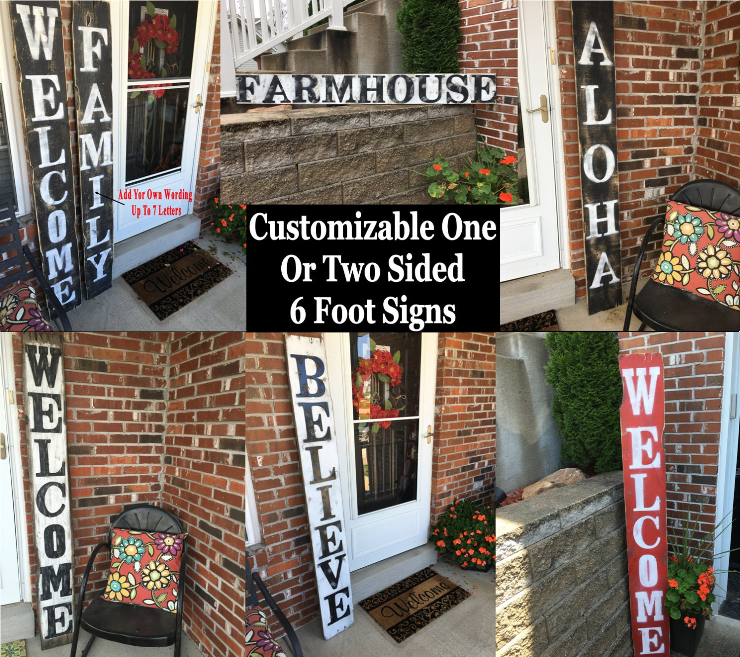 Rustic Welcome Sign, Outdoor Welcome Decor, Welcome Wood Sign, Entryway Welcome  Sign, Vertical Welcome Sign, Front Door Welcome Decor