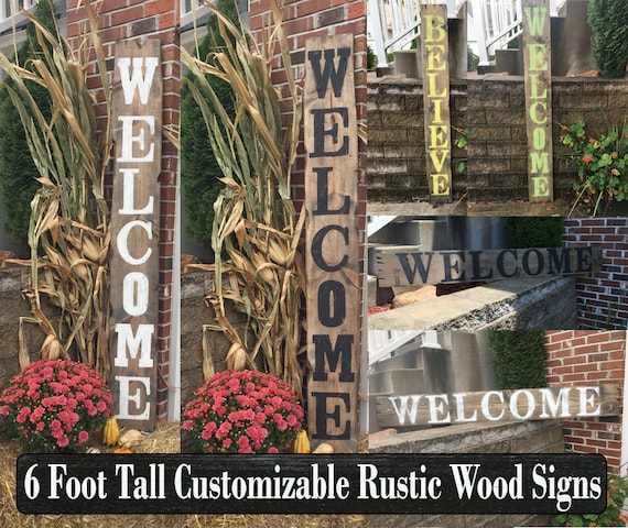 Yard Signs Decorative Signs Wood Name Signs Vertical Signs Etsy Simple Decorative Address Yard Signs