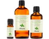 Peppermint (Piperita) Essential Oil Pure Natural - Nikura - 10ml, 20ml, 30ml, 50ml, 100ml, 200ml, 500ml, 1 Litre