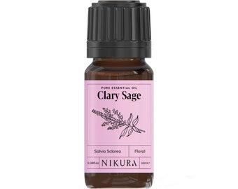 Clary Sage Essential Oil Pure & Natural - Nikura - 10ml, 20ml, 30ml, 50ml, 100ml, 200ml, 500ml, 1 Litre