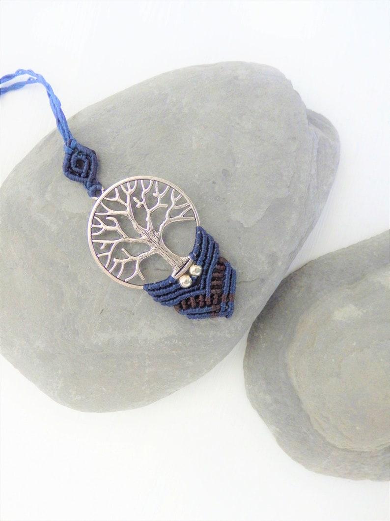 Tree of life macrame necklace