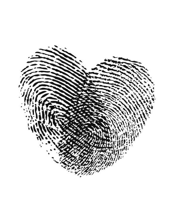 Coeur Dempreintes Digitales Noir Et Blanc Amour Art Be Mine Valentine Coeur Affiche Jeune Couple Cadeau Imprimable Saint Valentin Je Taime