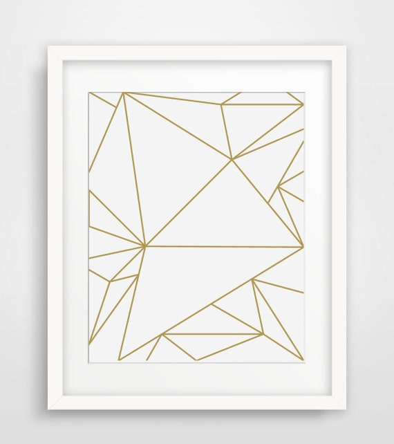 Geometric Triangle Art Drawing