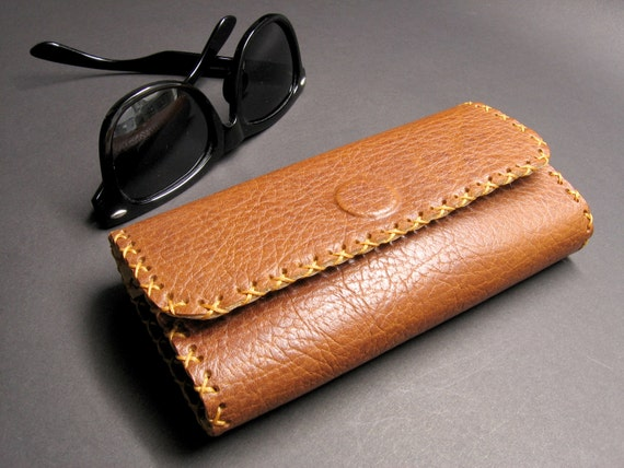 875ff56dc87 Leather Eye glasses case Big Leather Eye glasses case
