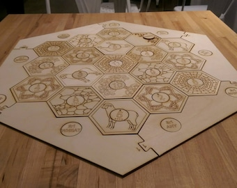 Settlers of Catan board - Laser cut and Engraved