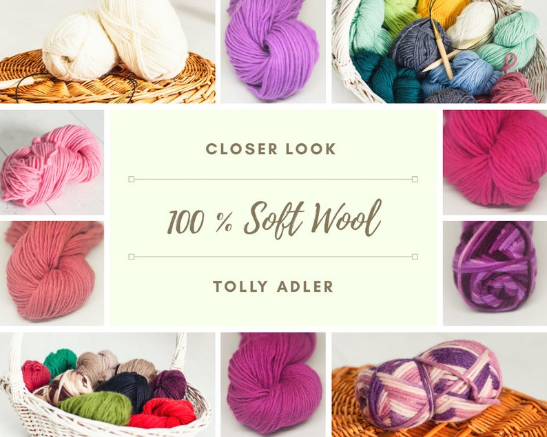 Wool yarn for chunky knitting 100 g