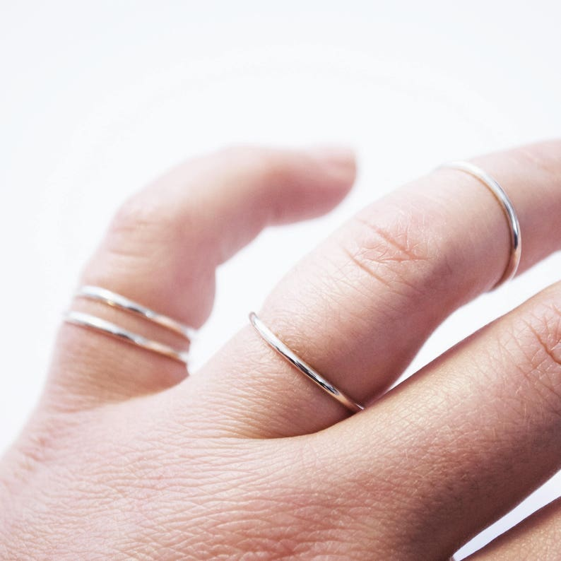 Small Thin Silver Ring image 0