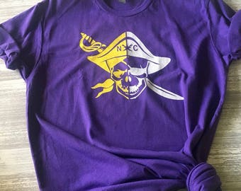 Eeastern Carolina Pirates Tshirt, Pirates Tshirt, Free Shipping