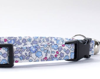 Cat Collar, Kitten Collar, Safety Cat Collar, Breakaway Cat Collar, Floral Cat Collar, Liberty of London, Liberty Print, Liberty Fabric, Cat