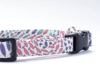 Cute Cat Collar, Cat/Kitten Collar, Breakaway Cat Collar, Safety Cat Collar, Liberty Fabric, Boy/Girl Cat Collar,  Adjustable Collar, Cat