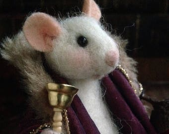 Needle Felted Mouse: Nicholas and Christmas