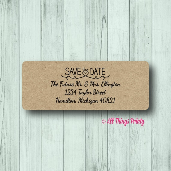save the date return address labels personalized wedding etsy