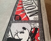 Disney Mickey Mouse and Minnie Mouse Quilted Bed Runner, Disney Table Runner for Kitchen or Dining Decor, Disney Gift Idea, Ready to Ship
