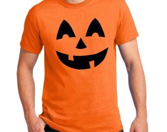 Pumpkin Face T-shirts Jack o Lantern Men's, Women's, Youth, Toddler and Baby Bodysuit Halloween Cosplay shirts