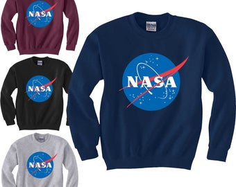 NASA Retro Logo Sweatshirt Insignia Space Science Geek Adult and Youth Sweaters