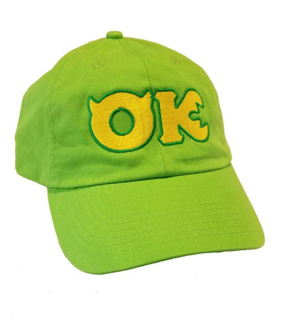 Oozma Kappa Logo Embroidered Hat Monsters University Cap Mike Etsy