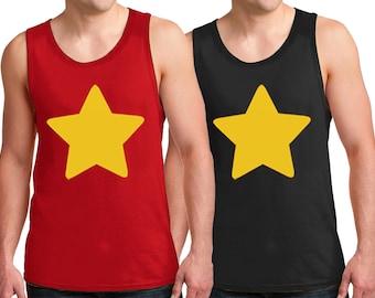 Yellow Star Tank Top Adult Sizes Halloween Costume cosplay Sleeveless Shirts