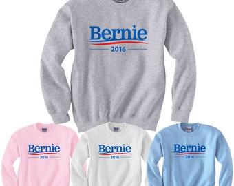 Bernie Sanders 2016 Sweatshirt Presidential Campaign Vote for Sanders Adult crewneck sweatshirts