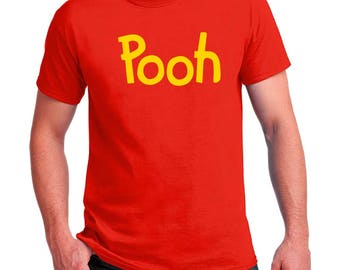 Pooh printed T-shirt Men's, Women's, Youth, Toddler and Baby Bodysuit Creeper Halloween Cosplay shirts