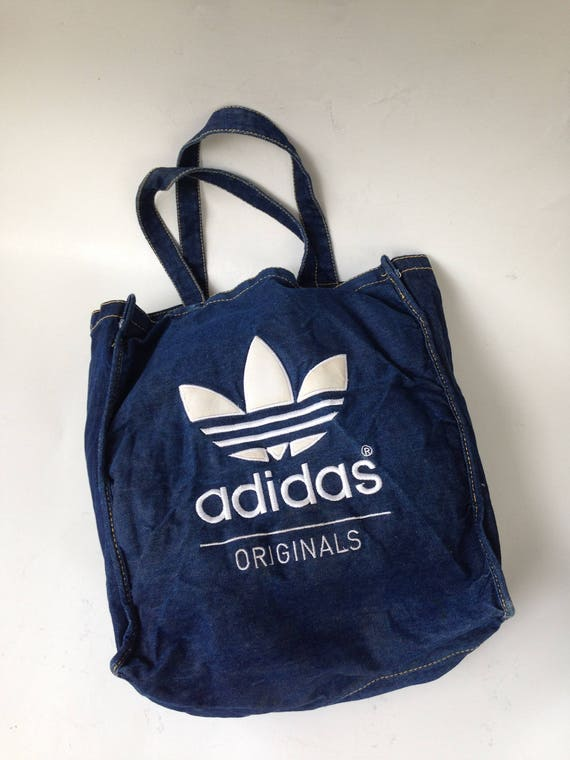 Vintage Adidas bag Tote bag Sports bag cotton bag Vintage  02a7a3eafb5d7