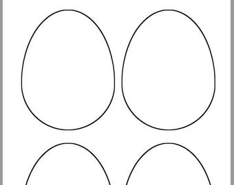 picture regarding Easter Egg Template Printable called 9 inch Easter Egg Template-Printable Easter Egg-Easter Egg