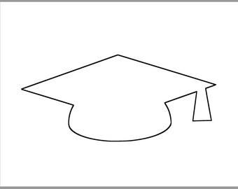 picture regarding Graduation Cap Template Free Printable called Grad cap template Etsy