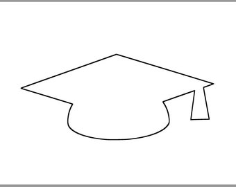 This is a picture of Canny Graduation Cap Template Printable