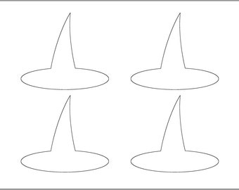 picture relating to Witches Hat Template Printable known as 8 inch Witch Hat Template-Printable Template-Halloween Etsy