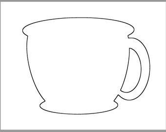 graphic relating to Coffee Cup Printable referred to as Espresso cup printable Etsy
