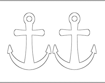 photo about Printable Anchor Template titled Anchor collage Etsy