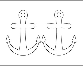 image relating to Printable Anchor Template named Anchor collage Etsy