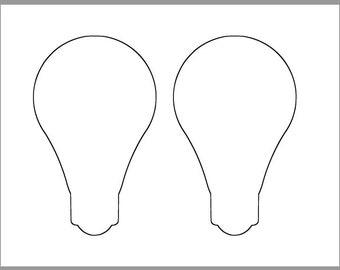 image about Light Bulb Printable named Mild bulb printable Etsy