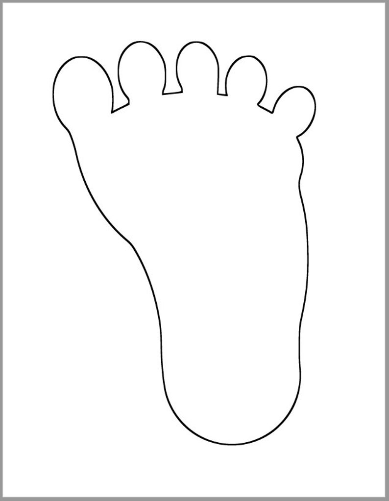 photo about Footprint Printable referred to as 9 inch Footprint Template-Kid Shower Decor-Substantial Printable Footprint-Footprint Behavior-Footprint Cutout-Clroom Decor-Little ones Shade Web site