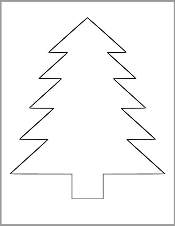 Printable Pine Tree Template Pdf Download Tree Cutout Christmas Tree Template Kids Color Page Holiday Classroom Kid Crafts 9 Inch Pine Tree