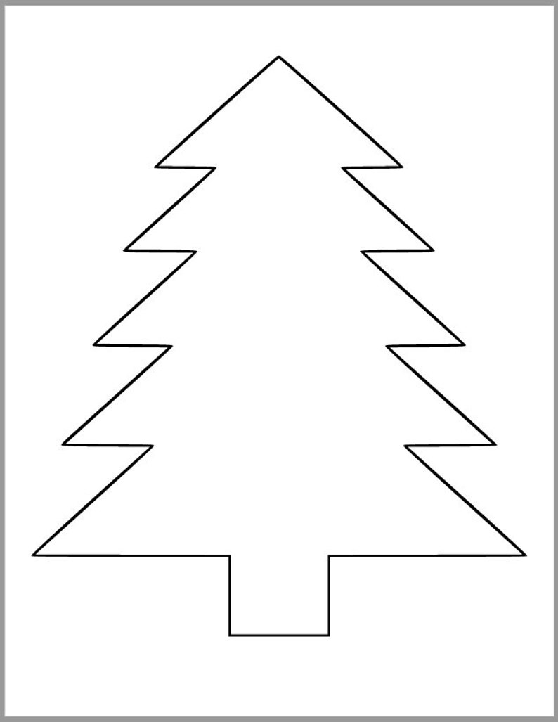 image about Printable Tree Template called Printable Pine Tree Template-PDF Obtain-Tree Cutout-Xmas Tree Template-Small children Coloration Web site-Getaway Clroom-Baby Crafts-9 inch Pine Tree-