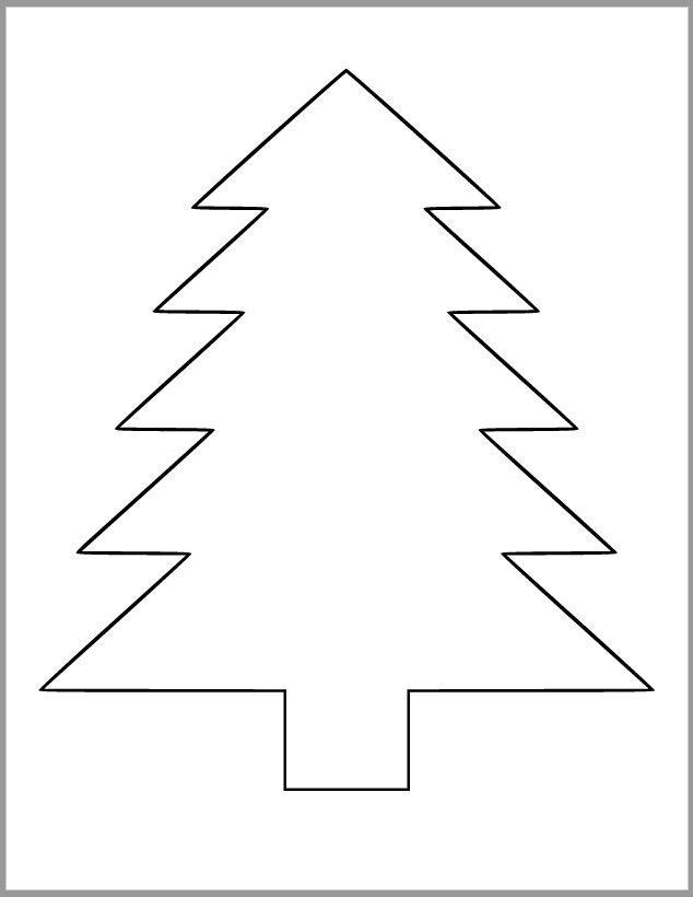 9 inch Pine Tree Template-Printable Pine Tree Cutout ...