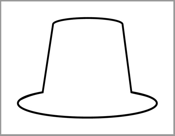 graphic regarding Printable Thanksgiving Crafts named 9 inch Pilgrim Hat Template-Thanksgiving Crafts-Printable Pilgrim Cutout-Preschool Crafts-Coloring Site-Clroom Decor-Substantial Pilgrim Hat