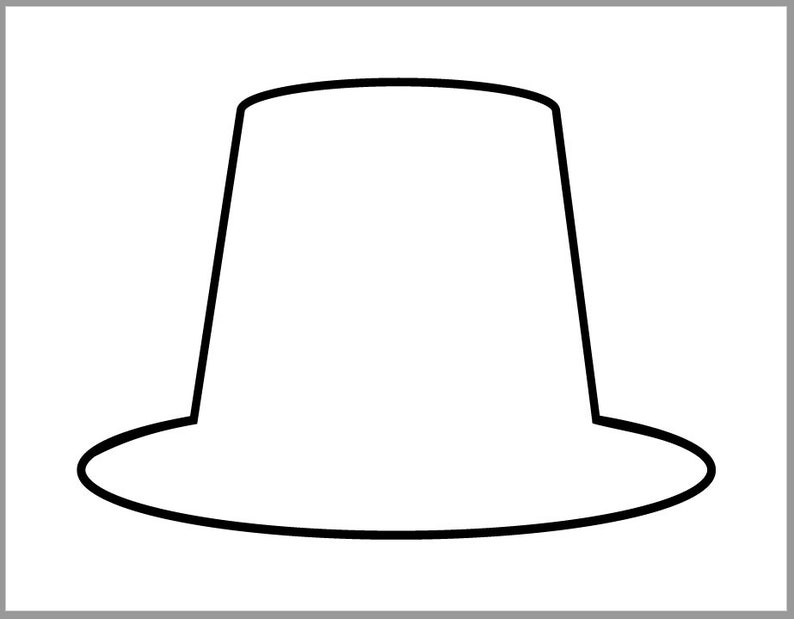 graphic relating to Printable Pilgrim Hat identify 9 inch Pilgrim Hat Template-Thanksgiving Crafts-Printable Pilgrim Cutout-Preschool Crafts-Coloring Site-Clroom Decor-Heavy Pilgrim Hat