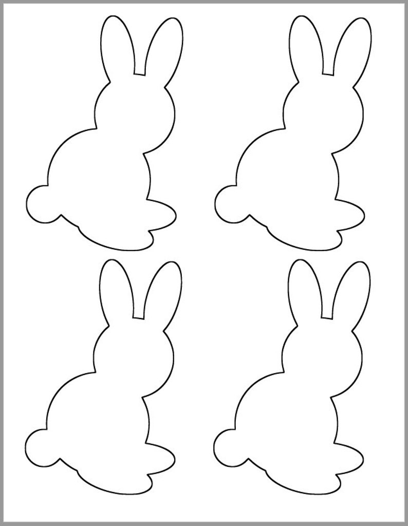 graphic about Rabbit Template Printable referred to as 5 inch Bunny-Printable Template-Spring Boy or girl Shower Decor-Spring Crafts-Clroom-Tips Playing cards-Rabbit Template-Coloration Webpage-Preschool Crafts-