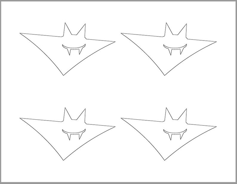 graphic about Printable Bat Template called 4 inch Bat Template-Printable Template-Halloween Crafts-Coloring Site-Halloween Template-Fast Down load-Traveling Bat Cutout-Halloween Get together
