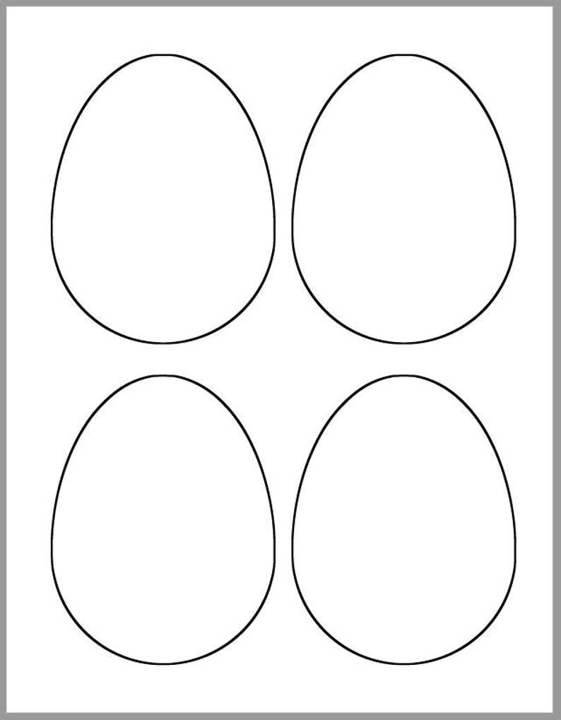 picture relating to Easter Egg Template Printable known as 4.5 inch Easter Eggs Template-Printable Easter Eggs-Easter Crafts-Do-it-yourself Crafts-4 Easter Eggs Template-Small children Crafts-Clroom Decor- Spring