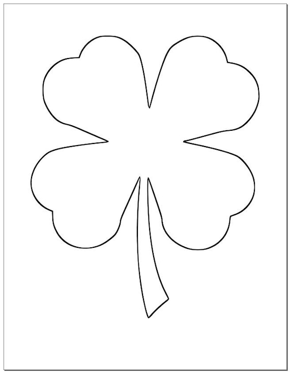 photo relating to Printable Shamrock Images identify 8.5 inch Shamrock Template-Significant Printable Shamrock-St. Patricks Working day-Do it yourself Crafts-Huge 4 Leaf Clover Template-Youngsters Crafts-Clroom Decor