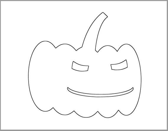 7 Inch Pumpkin Template Printable Pumpkin Halloween Etsy