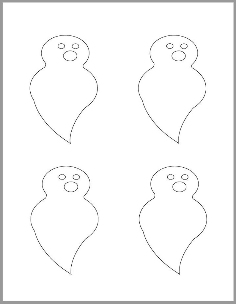 photograph regarding Printable Ghost known as 4 inch Halloween Ghost Template-Printable Ghost-Halloween Templates-Quick Downloads-Halloween Coloring Website page-Youngsters Crafts-Ghost Cutouts