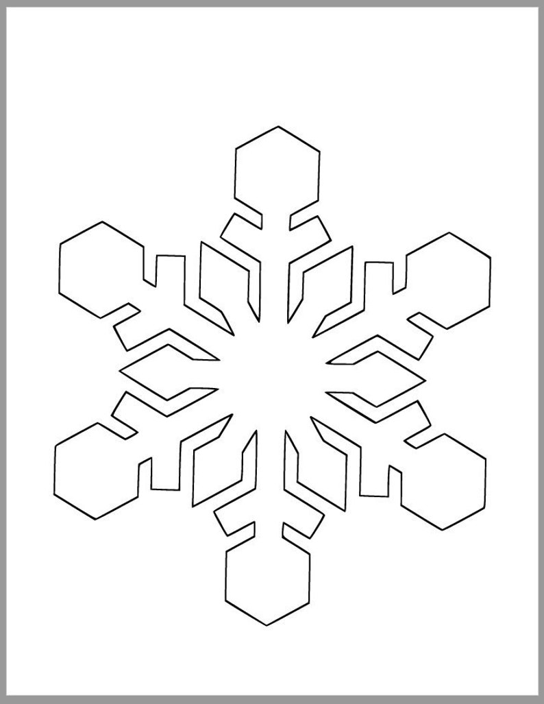 photograph relating to Printable Snowflakes known as 8 inch Snowflake Template-Printable Snowflake-Winter season Crafts-Xmas Decor-Vacation Celebration-Clroom Decor-Young children Crafts-Do it yourself Snowflake Cutout