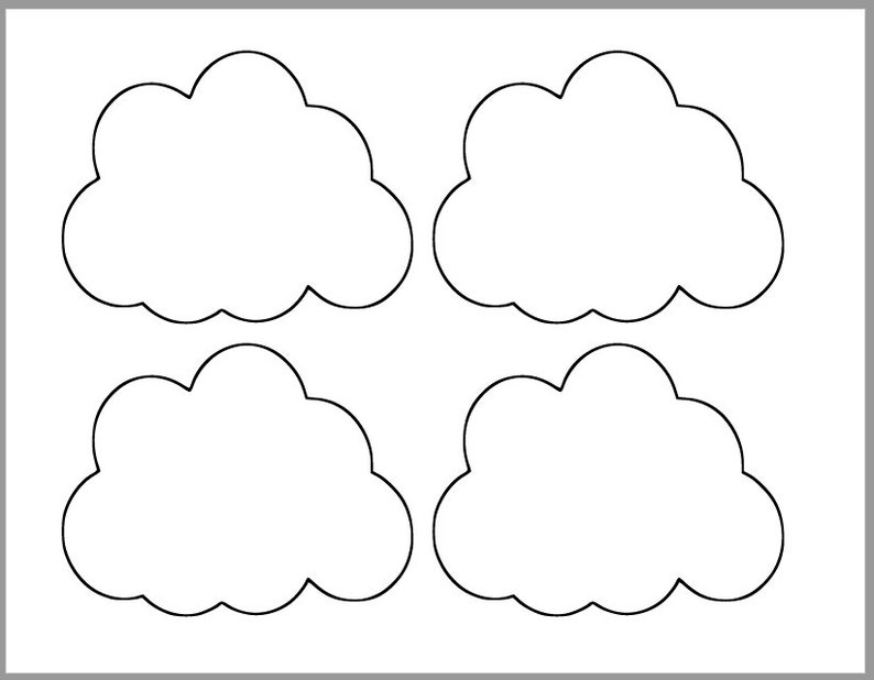 Luscious image pertaining to printable cloud template