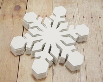 Snowflake Cutouts-Large Cardstock Snowflakes-Winter Crafts-Christmas Decor-Holiday Party Decor-Scrapbooking-Winter Classroom Decorations