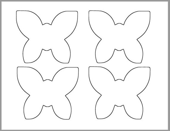 Butterfly Template Coloring Page - Coloring Home   441x570